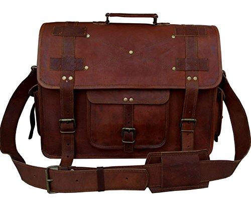 VINTAGE COUTURE 18 Inch leather messenger bags for men women mens ... 2fe5c380e7e61