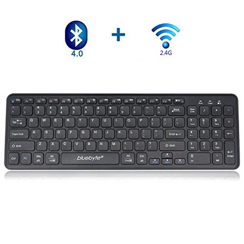 Universal Wireless Bluetooth Keyboard, bluebyte Multi-device Full