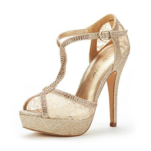 e2ce3fa8e81 getmorebeauty Women's Glitter Sequins Strappy Closed Toes Dress ...